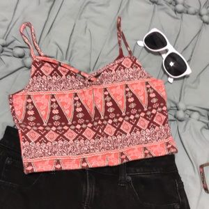 HOLLISTER Fitted crop tank top tribal